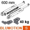 760H6000S Blum Movento Vollauszug Blumotion S, 40 kg - NL 600 mm