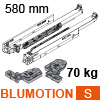 766H5800S Blum Movento Vollauszug Blumotion S, 60 kg - NL 580 mm