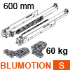 766H6000S Blum Movento Vollauszug Blumotion S, 60 kg - NL 600 mm