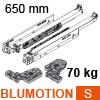 766H6500S Blum Movento Vollauszug Blumotion S, 60 kg - NL 650 mm