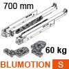 766H7000S Blum Movento Vollauszug Blumotion S, 60 kg - NL 700 mm