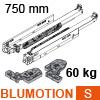 766H7500S Blum Movento Vollauszug Blumotion S, 60 kg - NL 750 mm