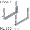 780C3502S Legrabox free Zarge C (H 177 mm), polarsilber LBX Zarge free C - NL 350 mm, silber