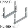 780C4502S Legrabox free Zarge C (H 177 mm), polarsilber LBX Zarge free C - NL 450 mm, silber