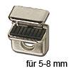 Glasklemme Pull für Glasstärke 5-8 mm Stahlklemme Pull 5-8 mm