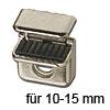 Glasklemme Pull für Glasstärke 10-15 mm Stahlklemme Pull 10-15 mm