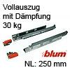 250 mm Blum Tandem Vollauszug 30 kg + Dämpfung 560H2500B