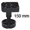 Sockelfußsystem SFS 200 150 mm zweiteiliges Set SFS 200 Set 150 mm