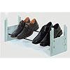 Schuhablage im Schrank, stufenlos einstellbar Schuhträger schwarz, B 580-900 mm