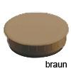 Abdeckkappe Kunststoff braun für Bohrung Ø 35 mm Abdeckkappe KS braun 35 x 10 mm