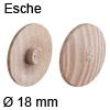 Abdeckkappe aus Echtholz, für Verbindungsgehäuse Minifix Esche - ø 18 mm, Minifix 15