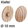 Abdeckkappe aus Echtholz, für Verbindungsgehäuse Minifix Kiefer - ø 18 mm, Minifix 15