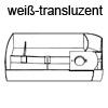 Schwenkschale Swing B 300 x H 46,5 mm, weiß-transluzent Drehbehälter Swing, Kst. w.transluz.
