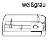 Schwenkschale Swing B 300 x H 46,5 mm, weißgrau Drehbehälter Swing, Kst. w.grau