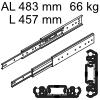 Accuride 3301 Überauszug, Horizontal- / Vertikalmont. AL 483 mm DZ3301-0018-2 für Einbaulänge 457 mm, Tragkraft 66 kg