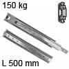 Schwerlastauszug Accuride 5321, 500 mm 150 kg Kugelauszug für Einbaulänge 500 mm - 150 kg