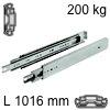 Kugelvollauszug Accuride 9301, bis 227 kg Schwerlastschienen für Einbaulänge 1016 mm, Tragkraft 200 kg