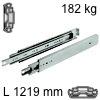 Kugelvollauszug Accuride 9301, bis 227 kg Schwerlastschienen für Einbaulänge 1219 mm, Tragkraft 182 kg