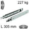 Kugelvollauszug Accuride 9301, bis 227 kg Schwerlastschienen für Einbaulänge 305 mm, Tragkraft 227 kg