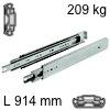 Kugelvollauszug Accuride 9301, bis 227 kg Schwerlastschienen für Einbaulänge 914 mm, Tragkraft 209 kg