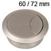 Kunststoff-Kabeldurchlass alufarben 60/72 mm Kabeldurchlass Kunststoff alufarben 60/72 mm