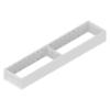 ZC7S500RS1 AMBIA-LINE Rahmen Stahldesign seidenweiß Ambia Stahlrahmen L472xB100xH51 mm weiß