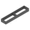 ZC7S500RS1 AMBIA-LINE Rahmen Stahldesign oriongrau Ambia Stahlrahmen L472xB100xH51 mm grau