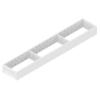 ZC7S600RS1 AMBIA-LINE Rahmen Stahldesign seidenweiß Ambia Stahlrahmen L572xB100xH51 mm weiß