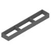 ZC7S600RS1 AMBIA-LINE Rahmen Stahldesign oriongrau Ambia Stahlrahmen  L572xB100xH51 mm grau
