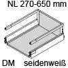 antaro Schubkasten Reling montiert 300 mm/DM für 16 mm Seiten Breite 300 mm   Länge/Tiefe 500 mm   weiß