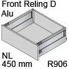 antaro Frontauszug Reling D NL 450 mm Alu, hellgrau TBX antaro Set Rel. D Metall - 450/228 mm, R906
