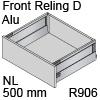 antaro Frontauszug Reling D NL 500 mm Alu, hellgrau TBX antaro Set Rel. D Metall - 500/228 mm, R906