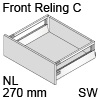 antaro Frontauszug Reling C Bausatz NL 270 mm, seidenweiß TBX antaro Set Rel. C - 270 / 196 mm, SW