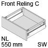 antaro Frontauszug Reling C Bausatz NL 550 mm, seidenweiß TBX antaro Set Rel. C - 550 / 196 mm, SW