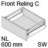 antaro Frontauszug Reling C Bausatz NL 600 mm, seidenweiß TBX antaro Set Rel. C - 600 / 196 mm, SW