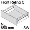 antaro Frontauszug Reling C Bausatz NL 650 mm, seidenweiß TBX antaro Set Rel. C - 650 / 196 mm, SW