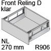 antaro Frontauszug Reling D NL 270 mm Klarglas, hellgrau TBX antaro Set Rel. D Optiw. Klar - 270/228 mm, R906