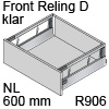 antaro Frontauszug Reling D NL 600 mm Klarglas, hellgrau TBX antaro Set Rel. D Optiw. Klar - 600/228 mm, R906