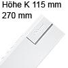 378K2702SA antaro Zarge K (115 mm), seidenweiß TBX Standardz. K - 270 mm, SW