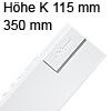 378K3502SA antaro Zarge K (115 mm), seidenweiß TBX Standardz. K - 350 mm, SW