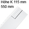 378K5502SA antaro Zarge K (115 mm), seidenweiß TBX Standardz. K - 550 mm, SW