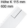 378K6002SA antaro Zarge K (115 mm), seidenweiß TBX Standardz. K - 600 mm, SW
