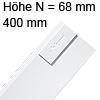 Tandembox antaro Zarge N (68 mm) NL 400 mm, weiß 378N4002SA TBX antaro N-Zargen SW
