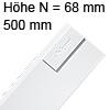 Tandembox antaro Zarge N (68 mm) NL 500 mm, weiß 378N5002SA TBX antaro N-Zargen SW