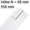 Tandembox antaro Zarge N (68 mm) NL 550 mm, weiß 378N5502SA TBX antaro N-Zargen SW