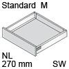 TBX antaro Standard M Bausatz NL 270 mm, seidenweiß antaro Set M - 270 / 83 mm, SW