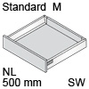 TBX antaro Standard M Bausatz NL 500 mm, seidenweiß antaro Set M - 500 / 83 mm, SW