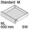 TBX antaro Standard M Bausatz NL 600 mm, seidenweiß antaro Set M - 600 / 83 mm, SW