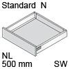 TBX antaro Standard N Bausatz NL 500 mm, seidenweiß antaro Set N - 500 / 68 mm, SW