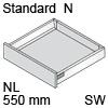TBX antaro Standard N Bausatz NL 550 mm, seidenweiß antaro Set N - 550 / 68 mm, SW
